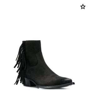 Saint Laurent Lukas fringed booties-Brand New-37